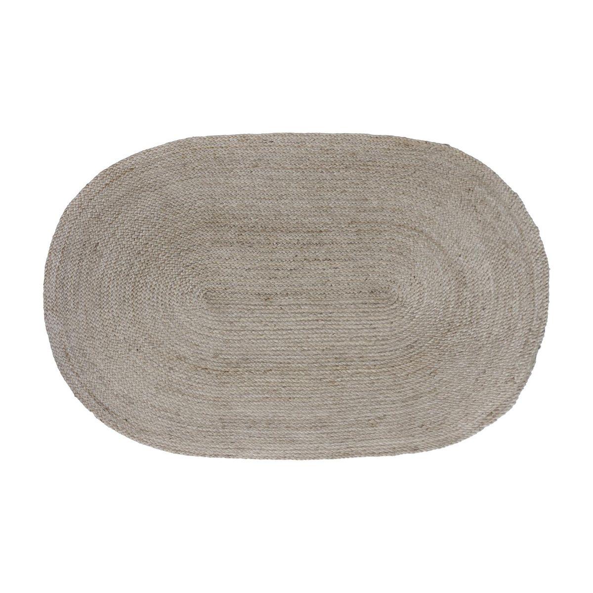 Tapis en jute naturelle tissé main bois clair -   120 x 170