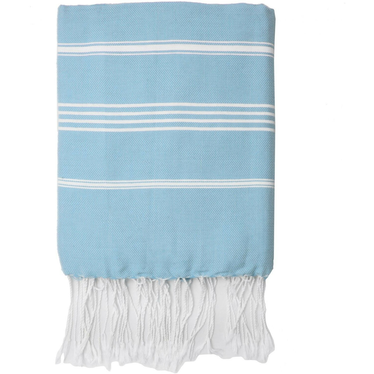 Fouta en coton 100x200 Bleu pâle