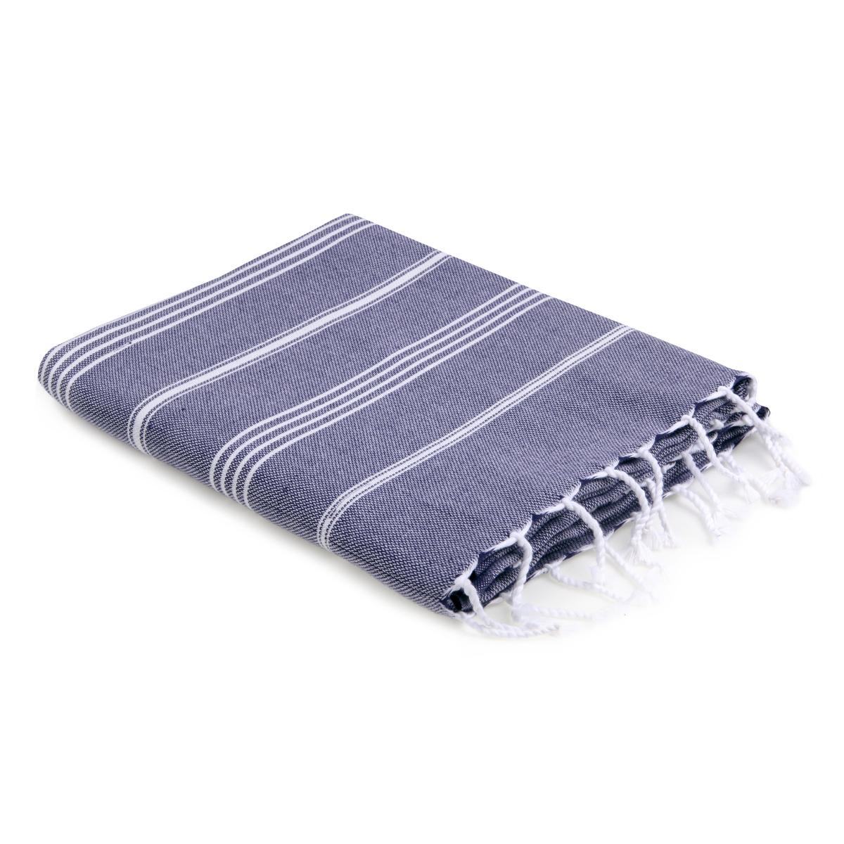 Fouta en coton 100x200 Bleu jean