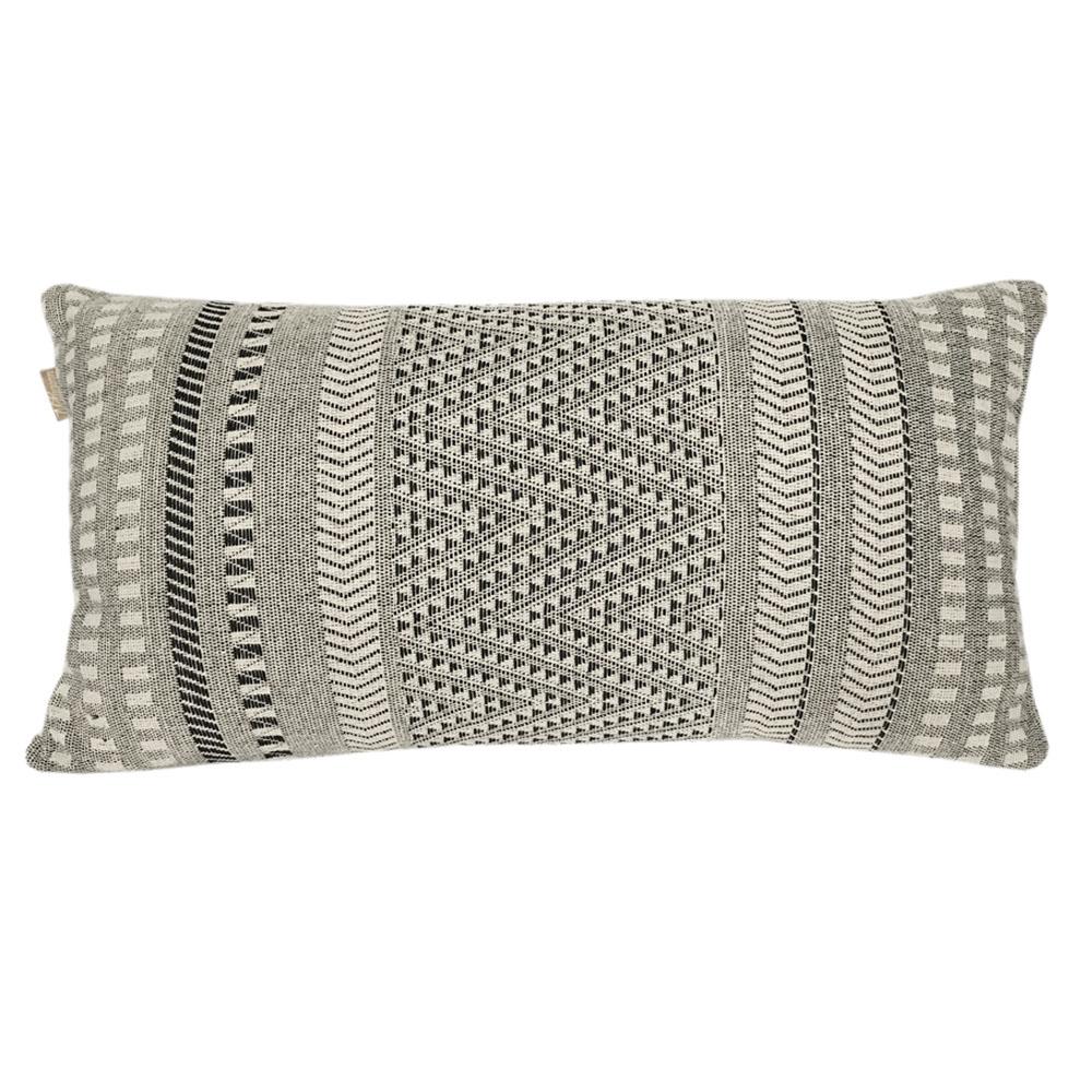 Coussin en coton natif gris 35x65