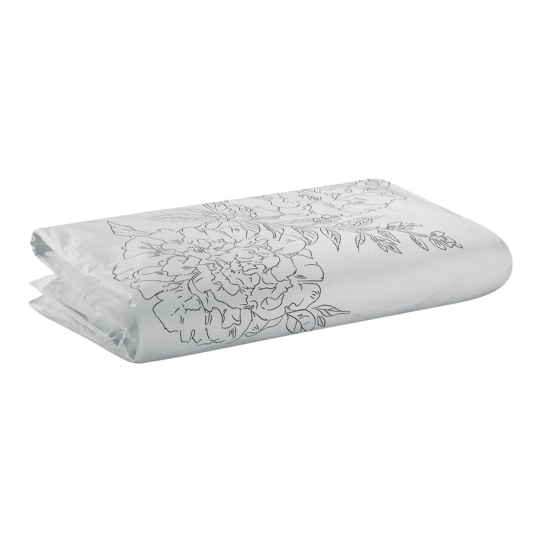 Édredon Imprimé en coton blanc 85 x 200