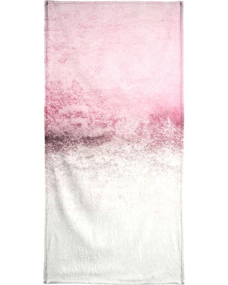 Serviette de plage en éponge-velours en Gris & Violet/90x180