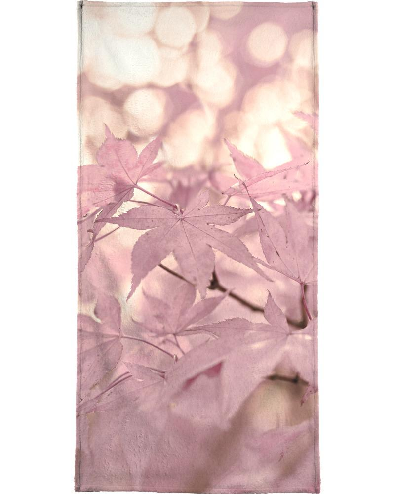 Serviette de plage en éponge-velours en Rose/90x180