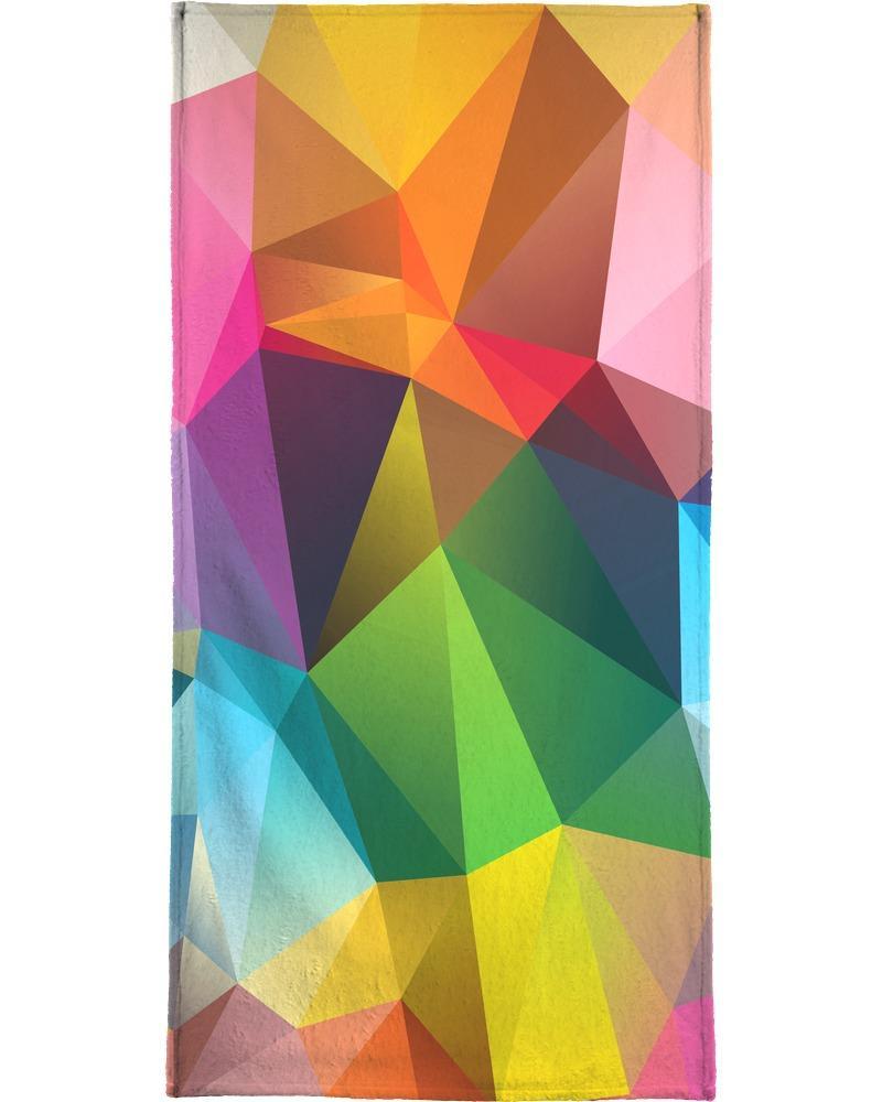 Serviette de plage en éponge-velours en Multicolore/90x180