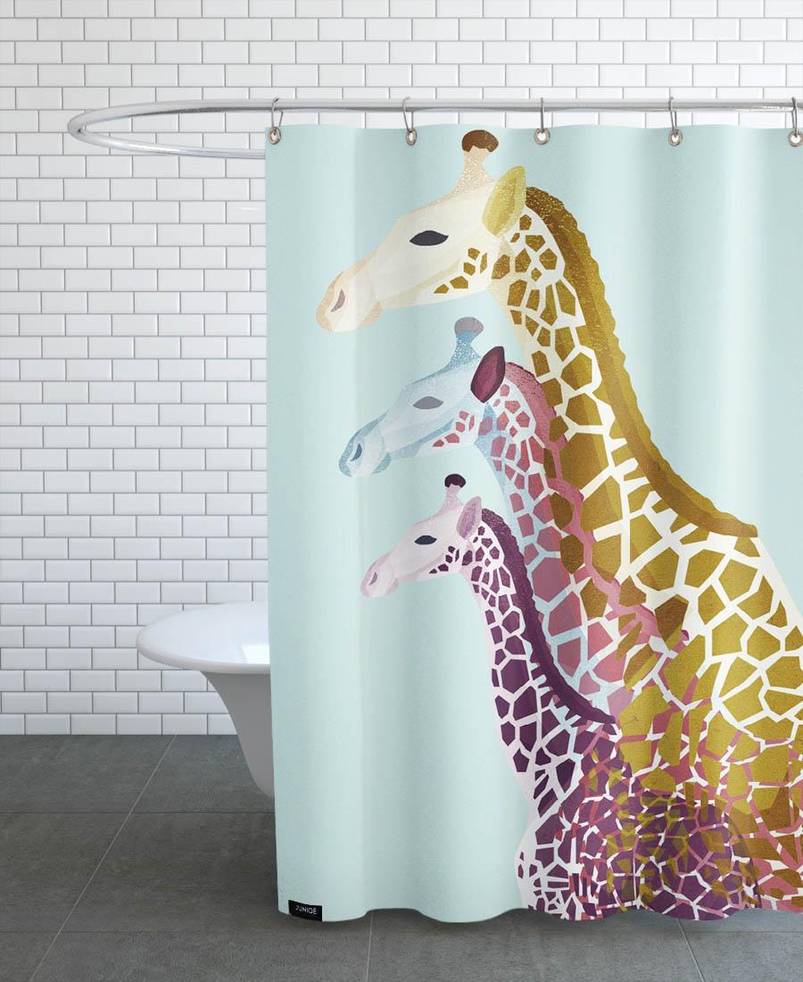 Rideau de douche en polyester en Jaune & Turquoise/150x200