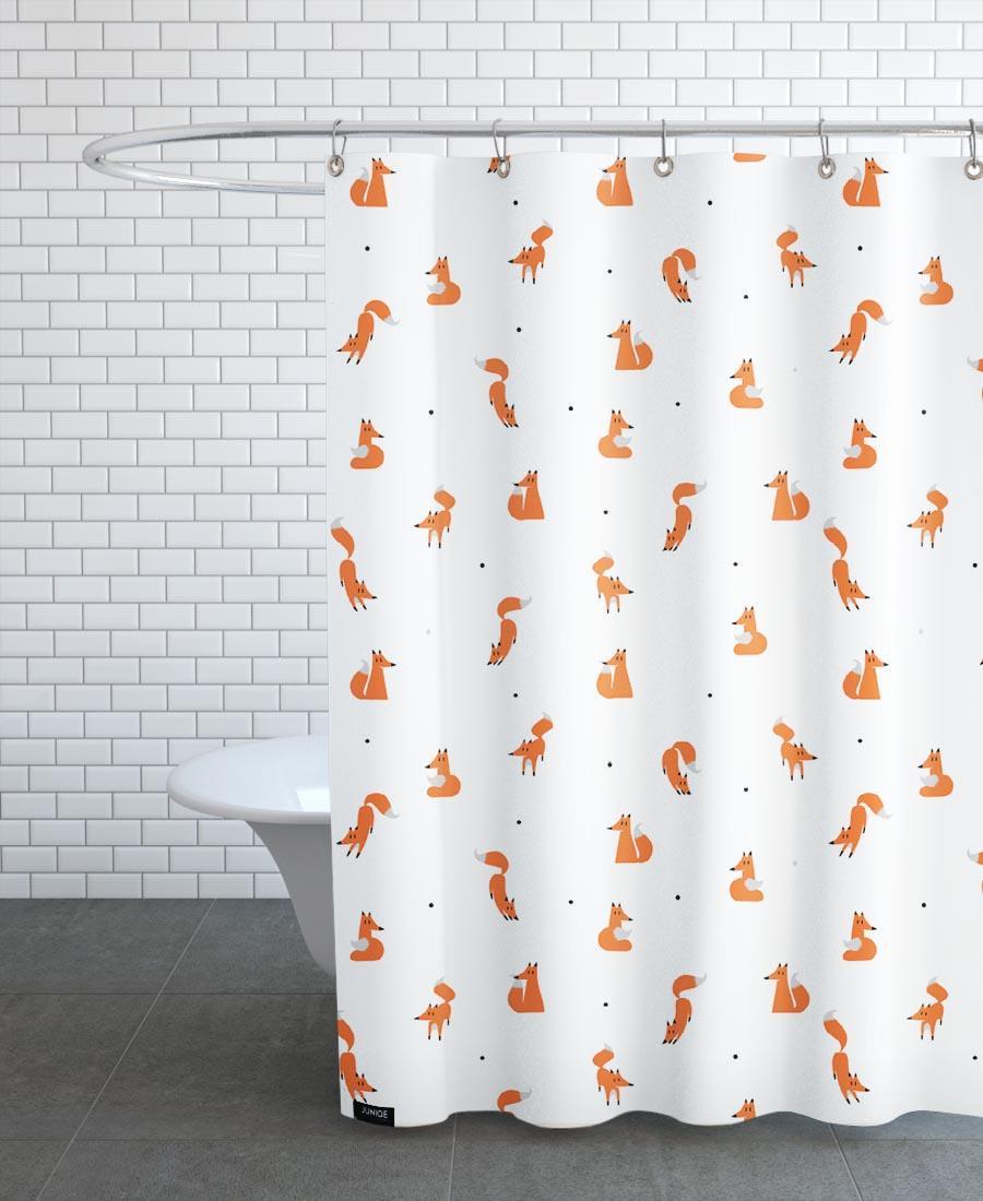 Rideau de douche en polyester en Blanc & /150x200
