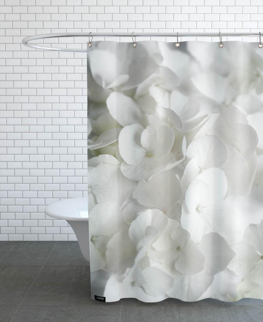 Rideau de douche en polyester en Blanc/150x200