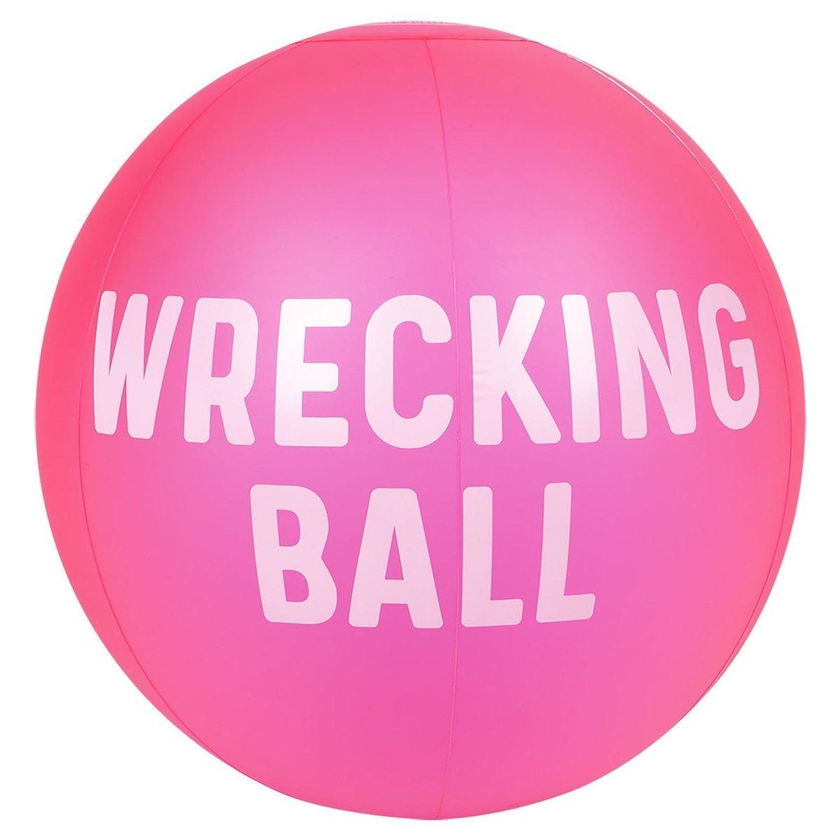 Ballon de plage gonflable XL - rose néon