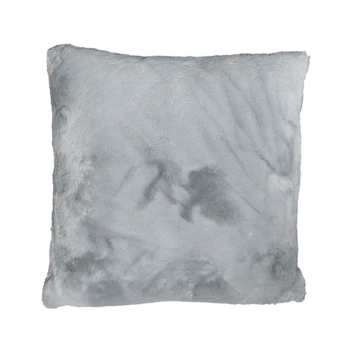 Coussin fausse fourrure Gris 50x50 cm