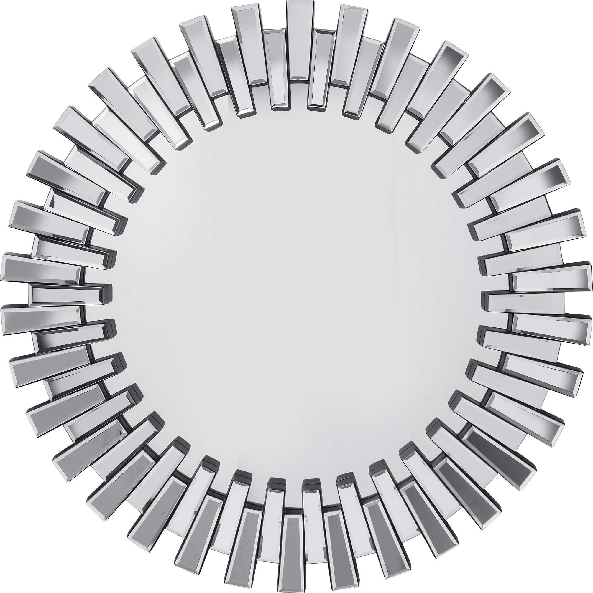 Miroir rond bords noirs D92