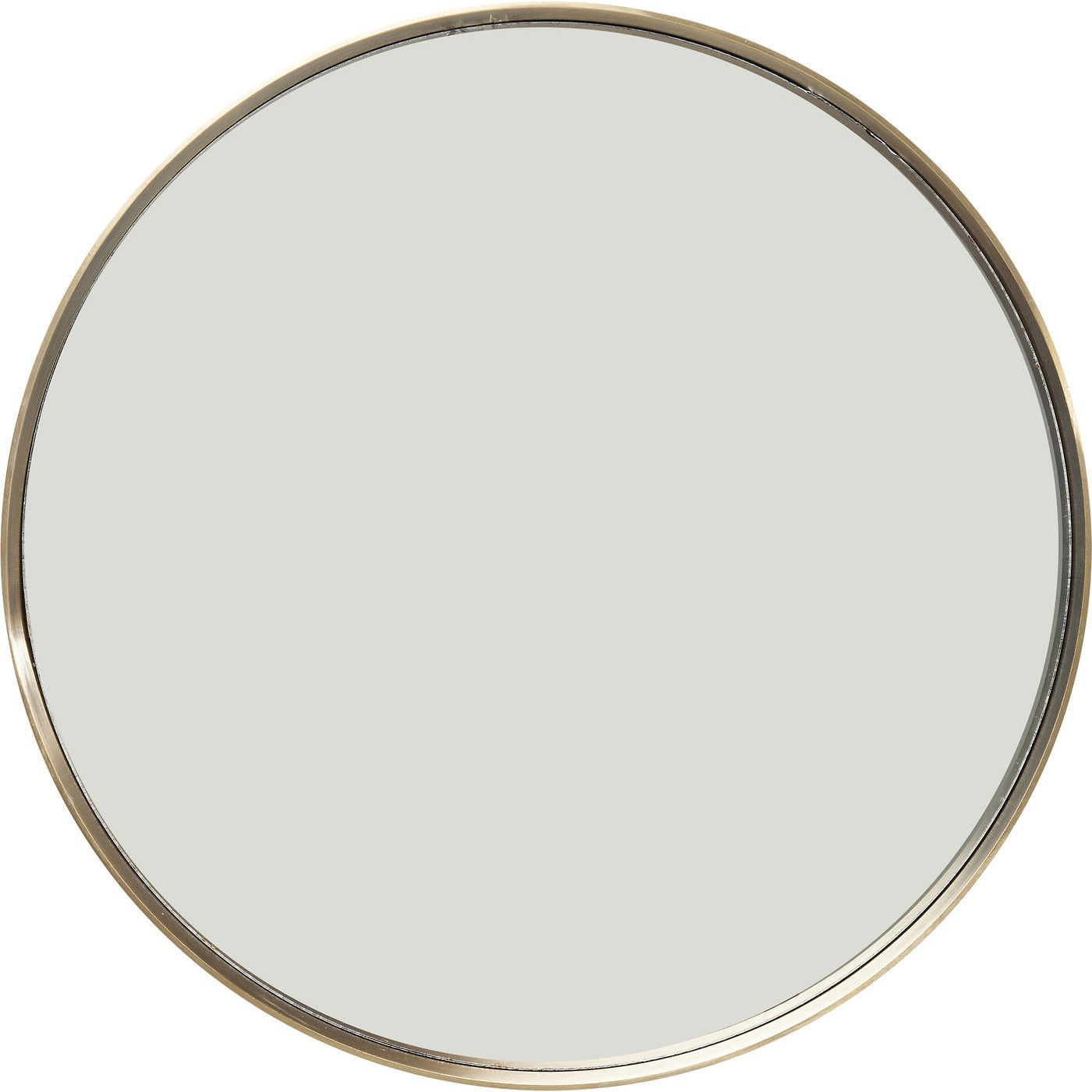 Miroir rond en métal doré D60