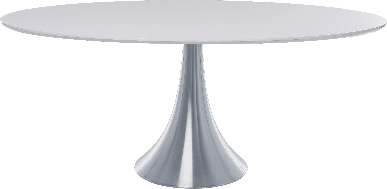Table à manger 6 personnes blanche en aluminium