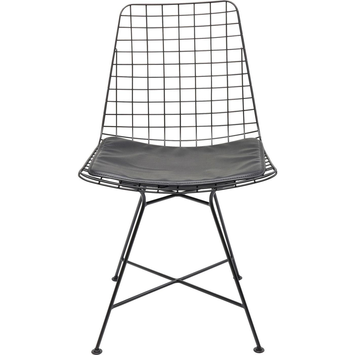 Chaise en acier noir