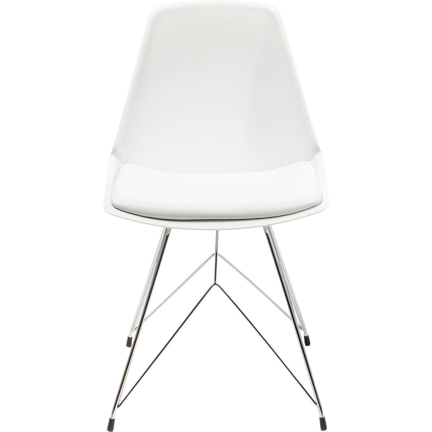 Chaise blanche et acier