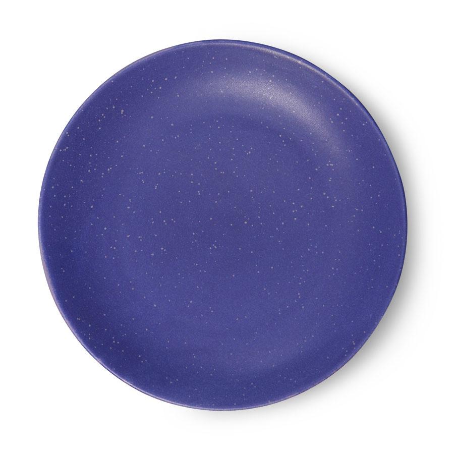 Assiette  en céramique bleue D20,7cm