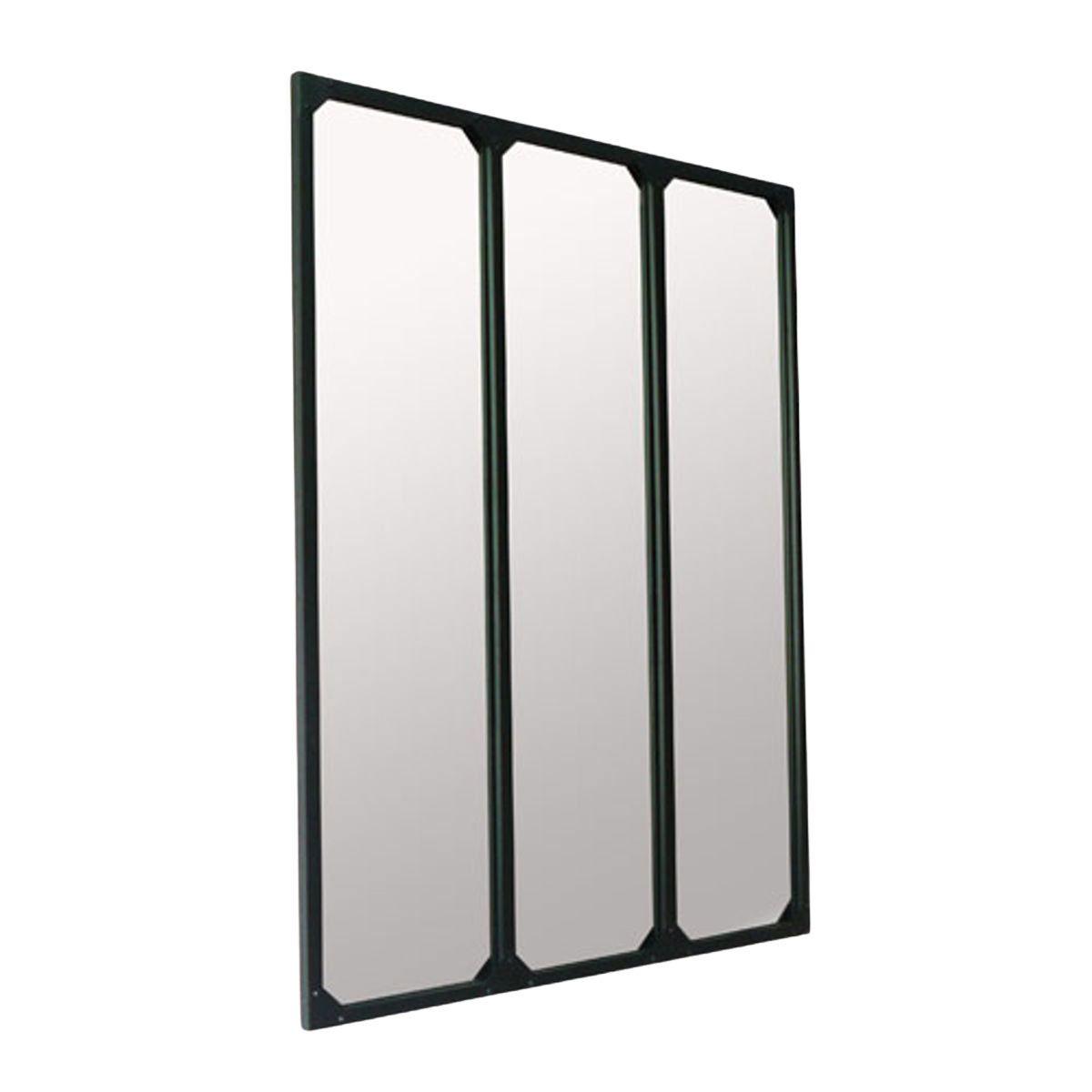 Miroir atelier xl en métal noir 95x120