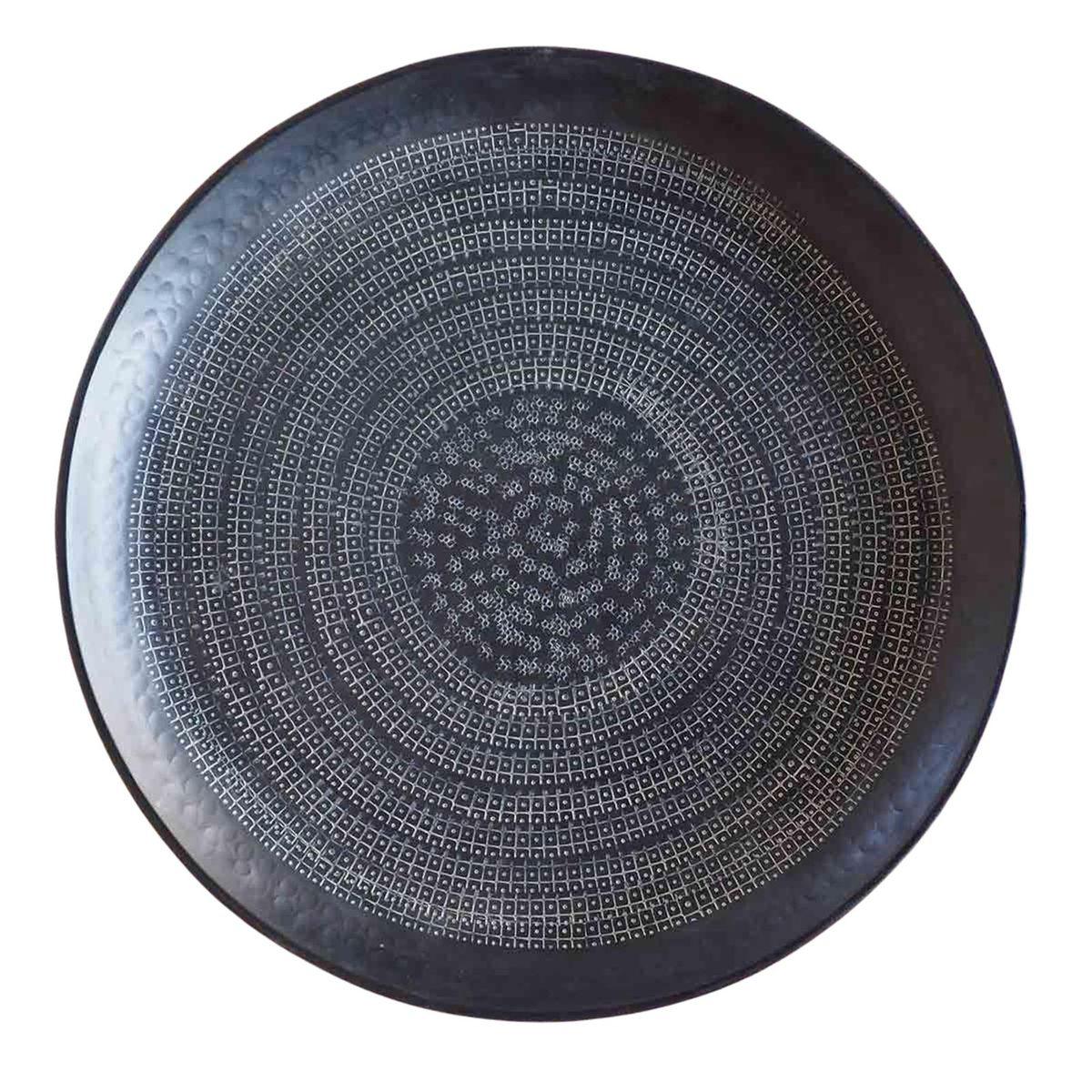 Plateau décoratif en aluminium noir