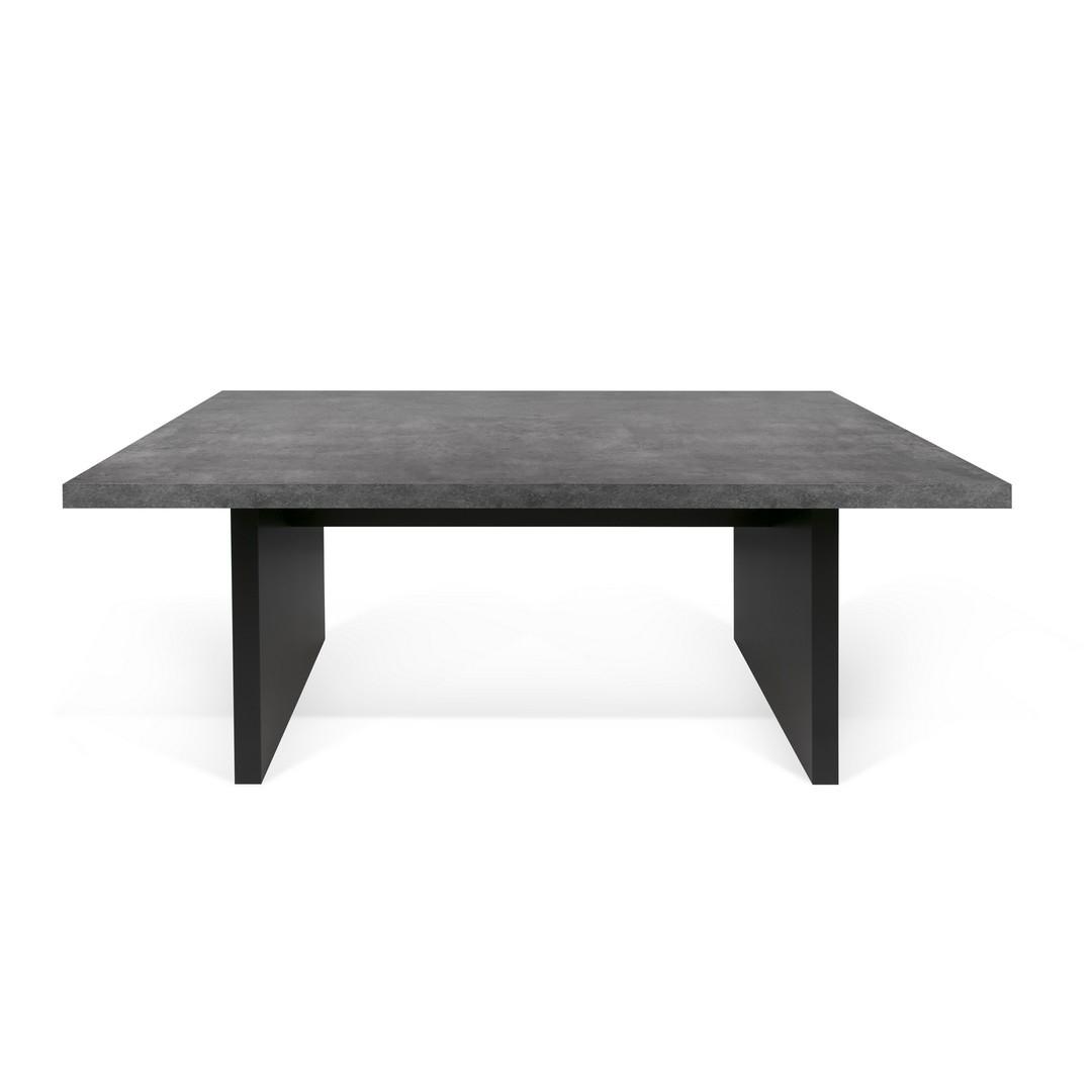 Table  effet bois Béton et noir