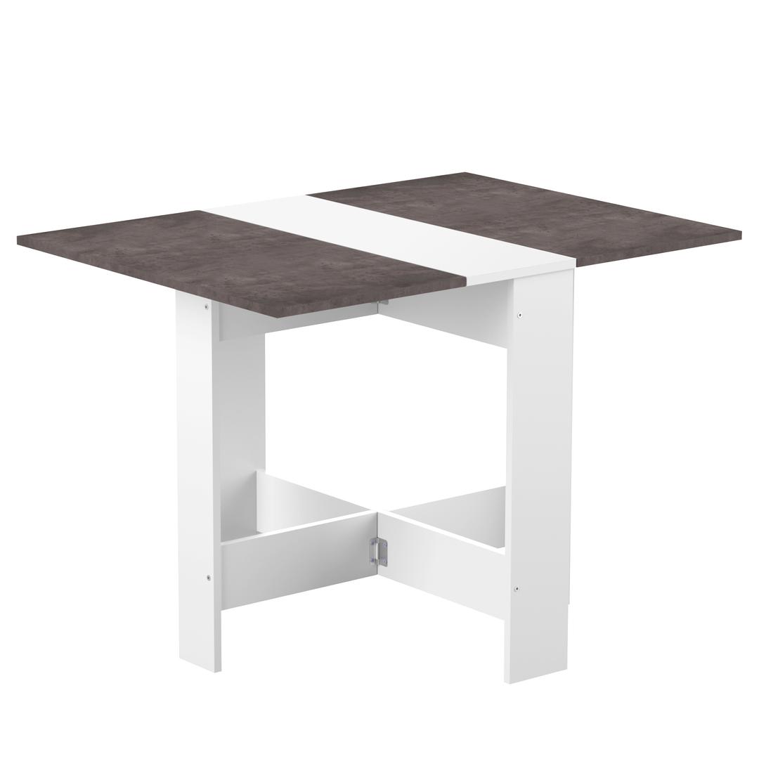 Table  effet bois Blanc et béton