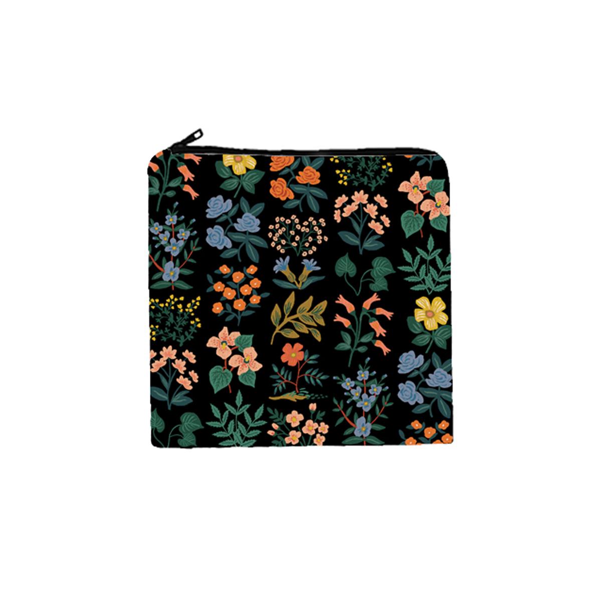 Trousse cosmétiques en coton Wildflower Black