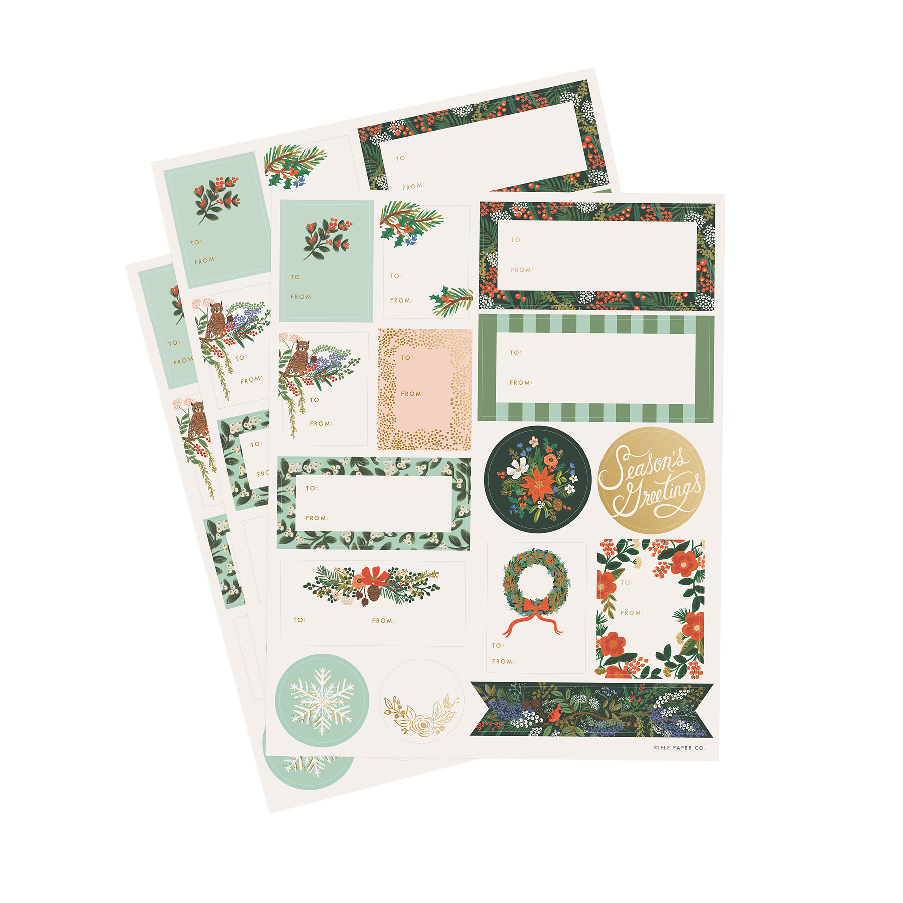 45 stickers winter floral