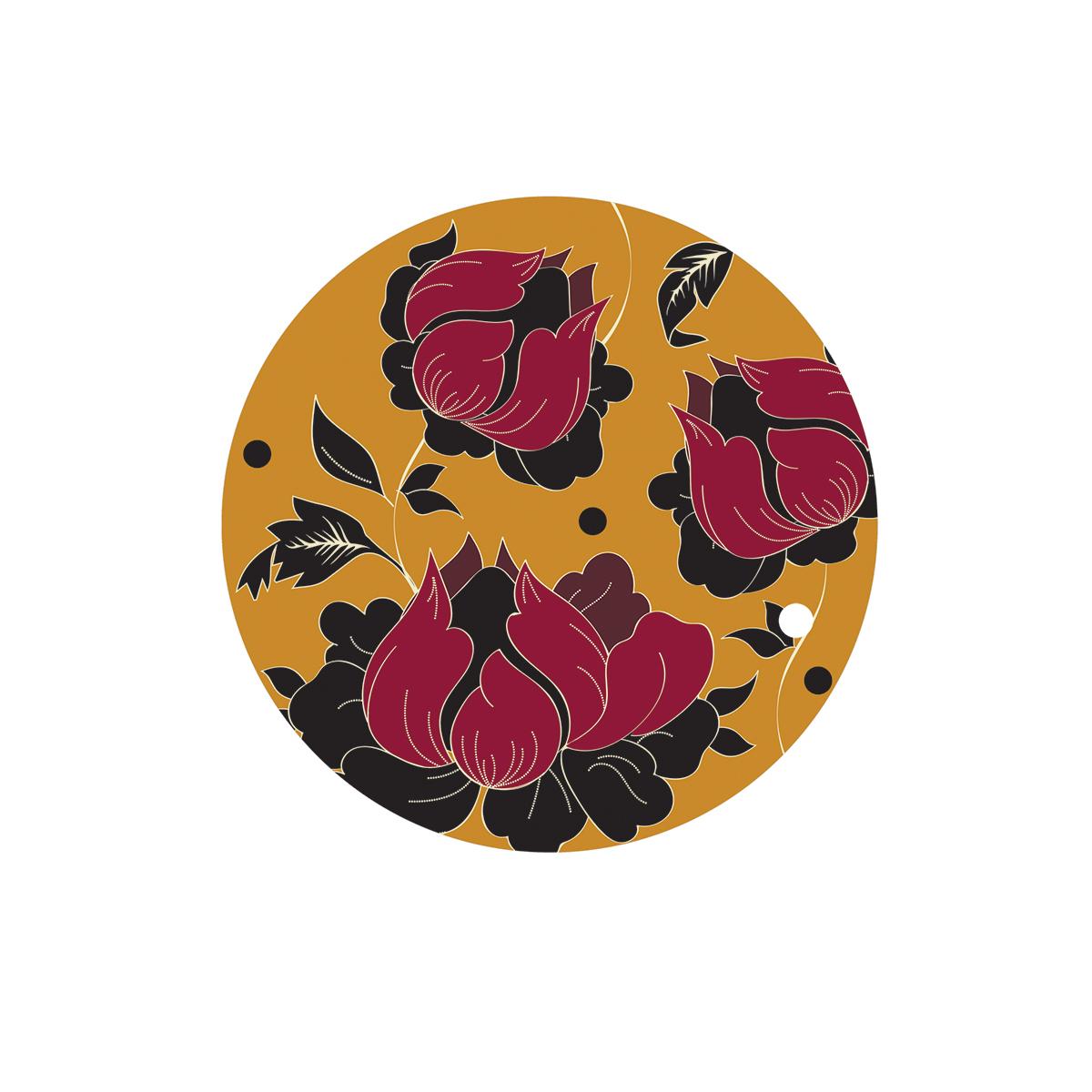 Dessous de plat en bois fleurs