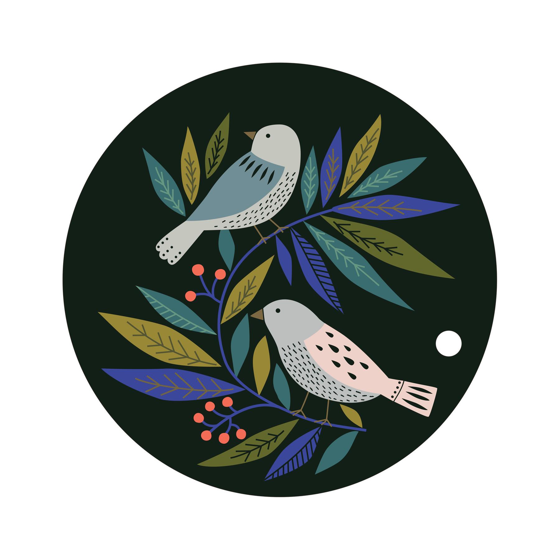 Dessous de plat en bois birds