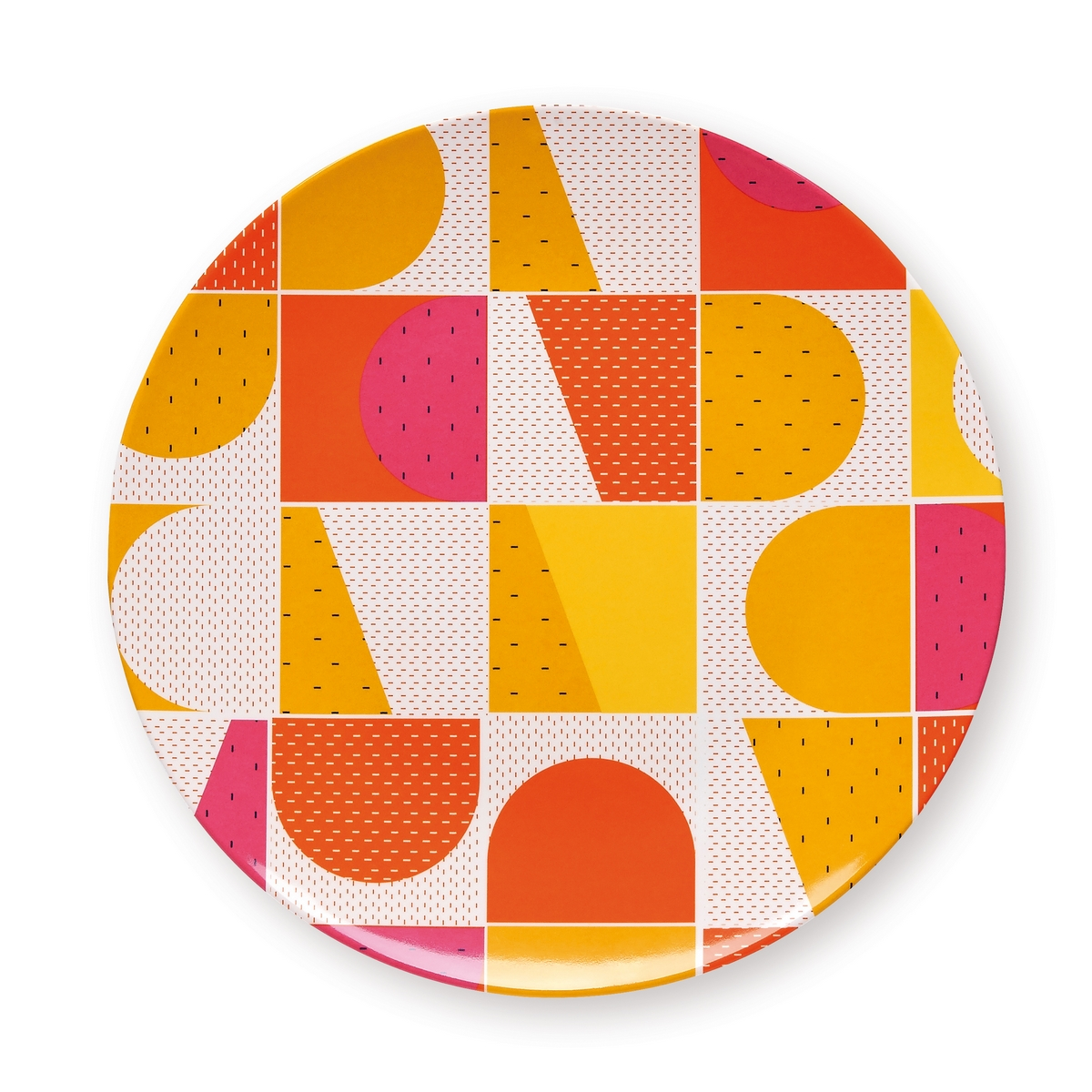 Assiette de table géométrique