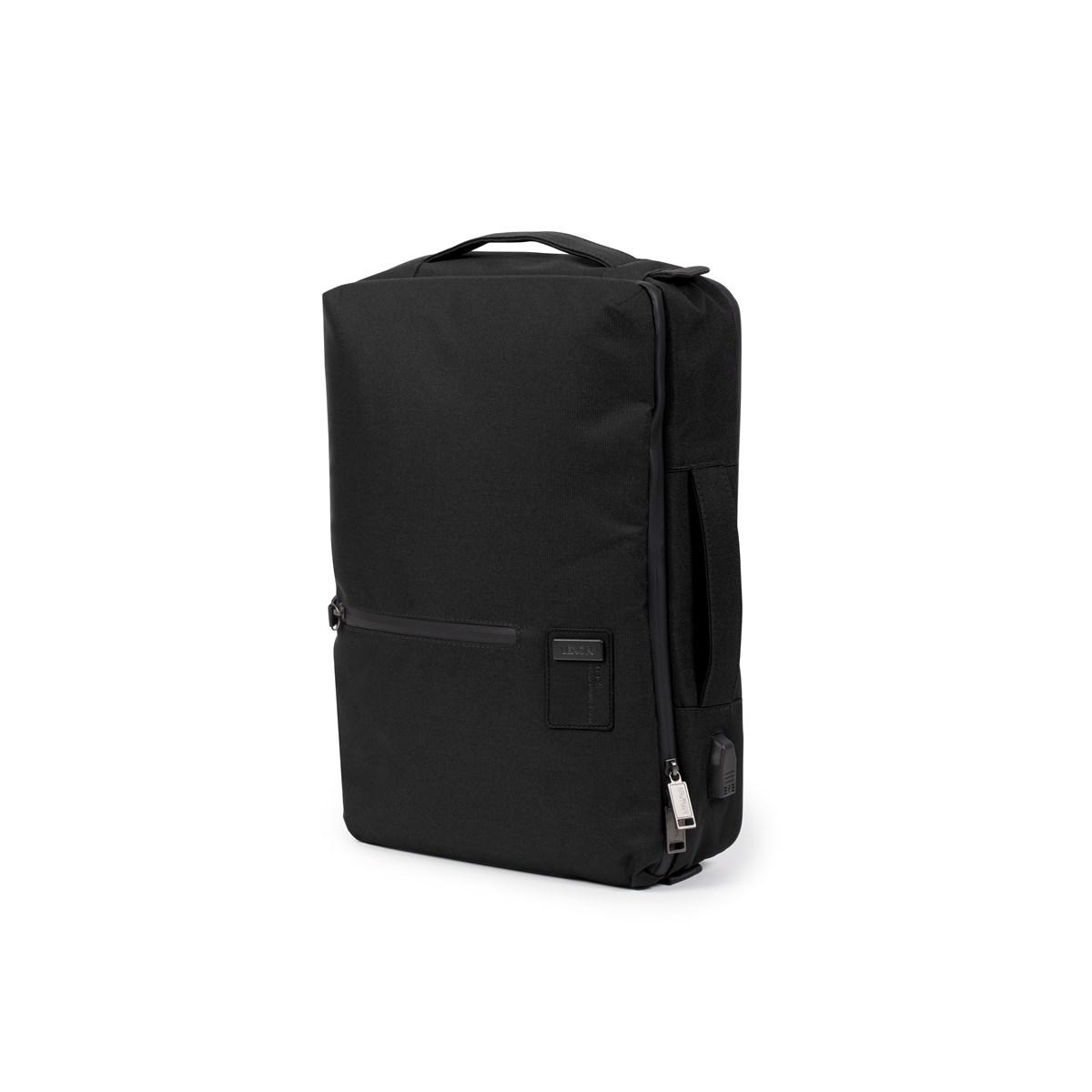 Porte-document 14 pouces et sac à dos en Polyester Noir