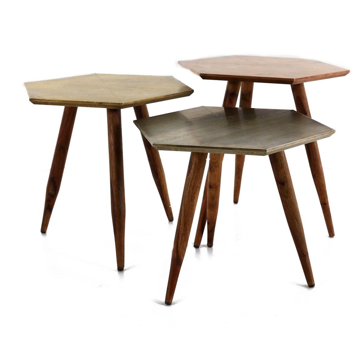 Table basse bois de palissandre et métal