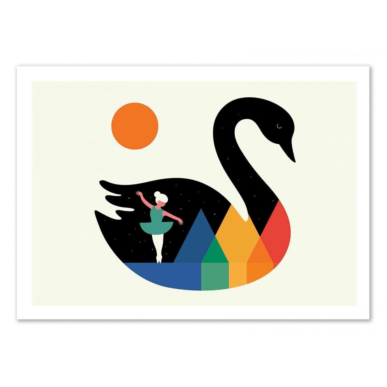 SWAN DANCE -   Affiche d'art 50 x 70 cm