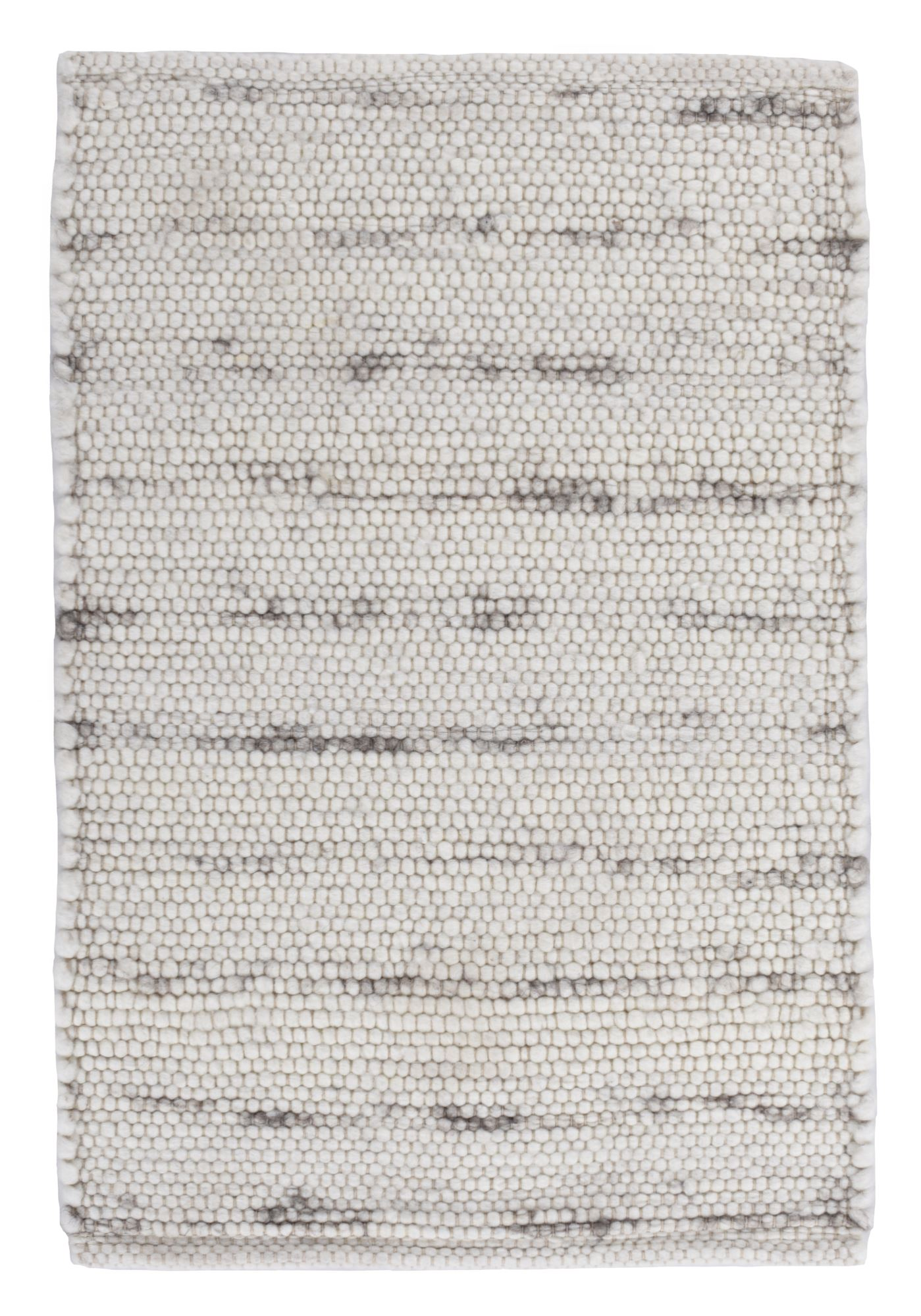 Tapis tissé à la main en laine naturelle natural grey 70x130