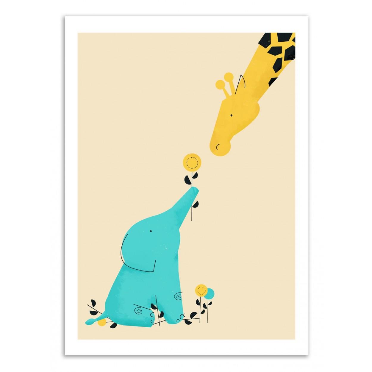BABY ELEPHANT -  Affiche d'art 50 x 70 cm
