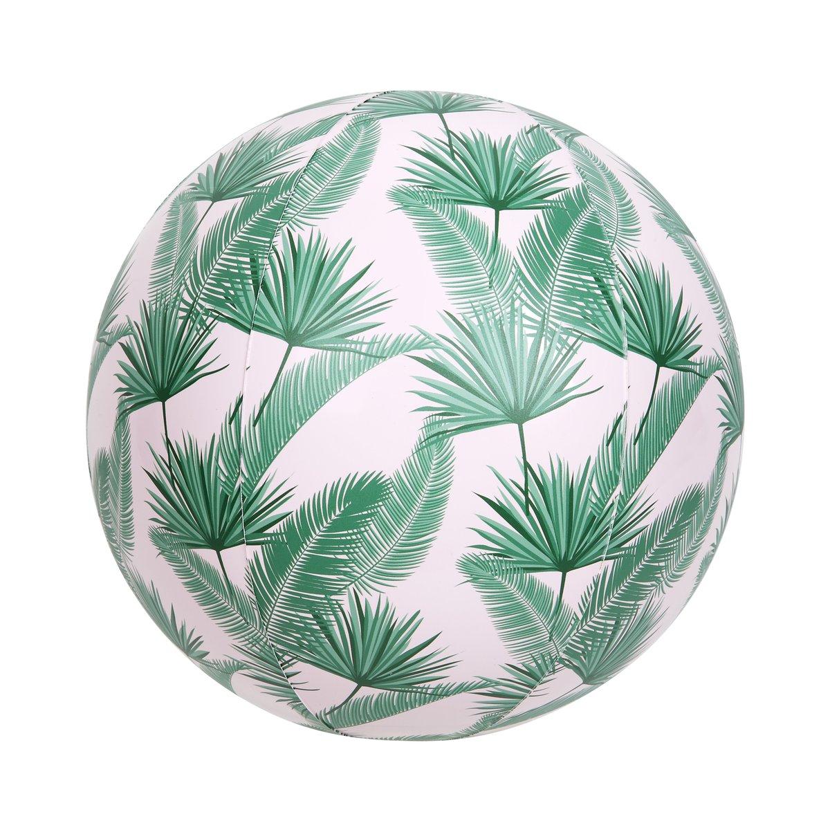 Ballon de plage gonflable feuilles de palmiers
