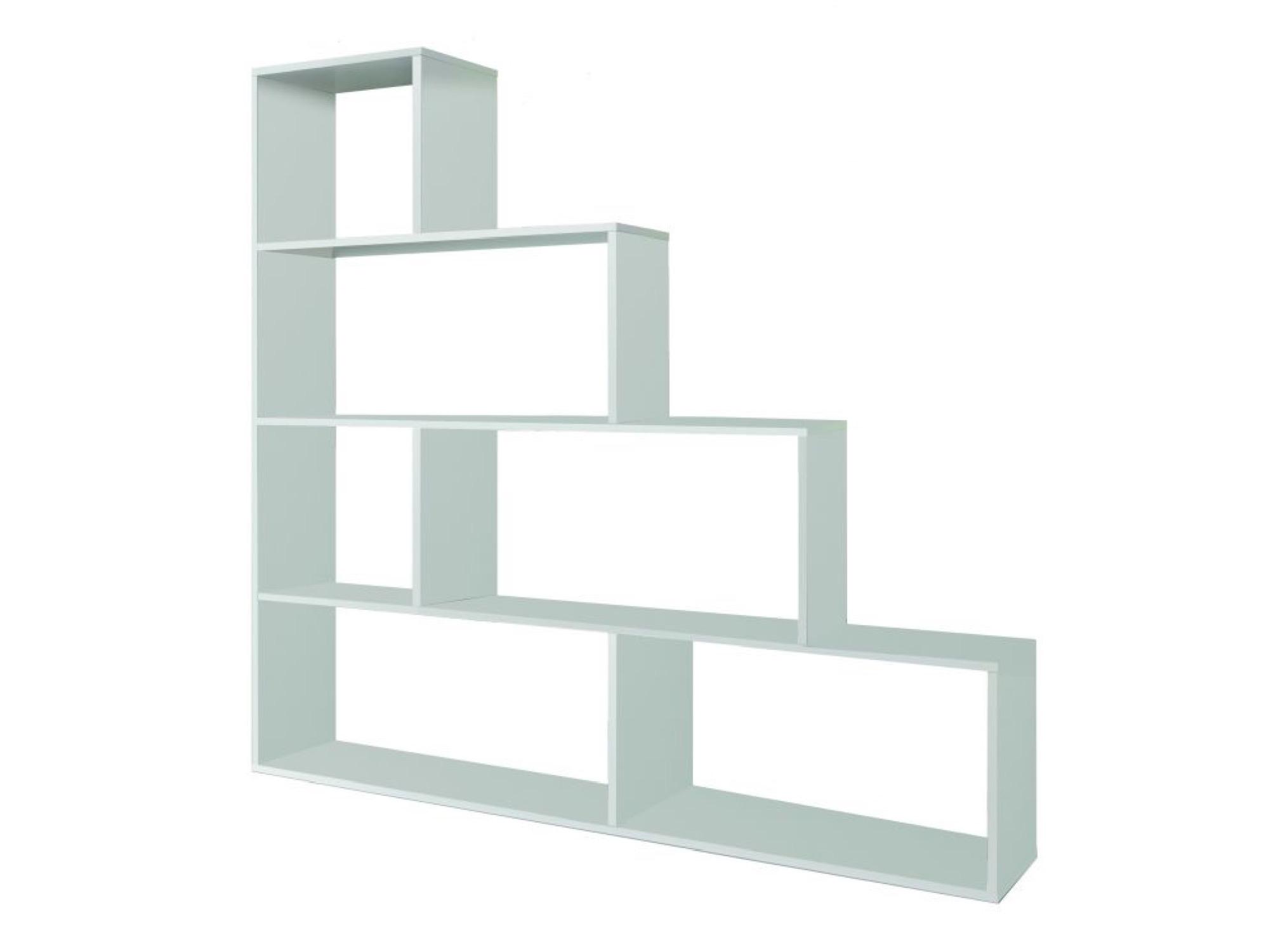 Étagère escalier blanche 7 cases L145cm x H145cm