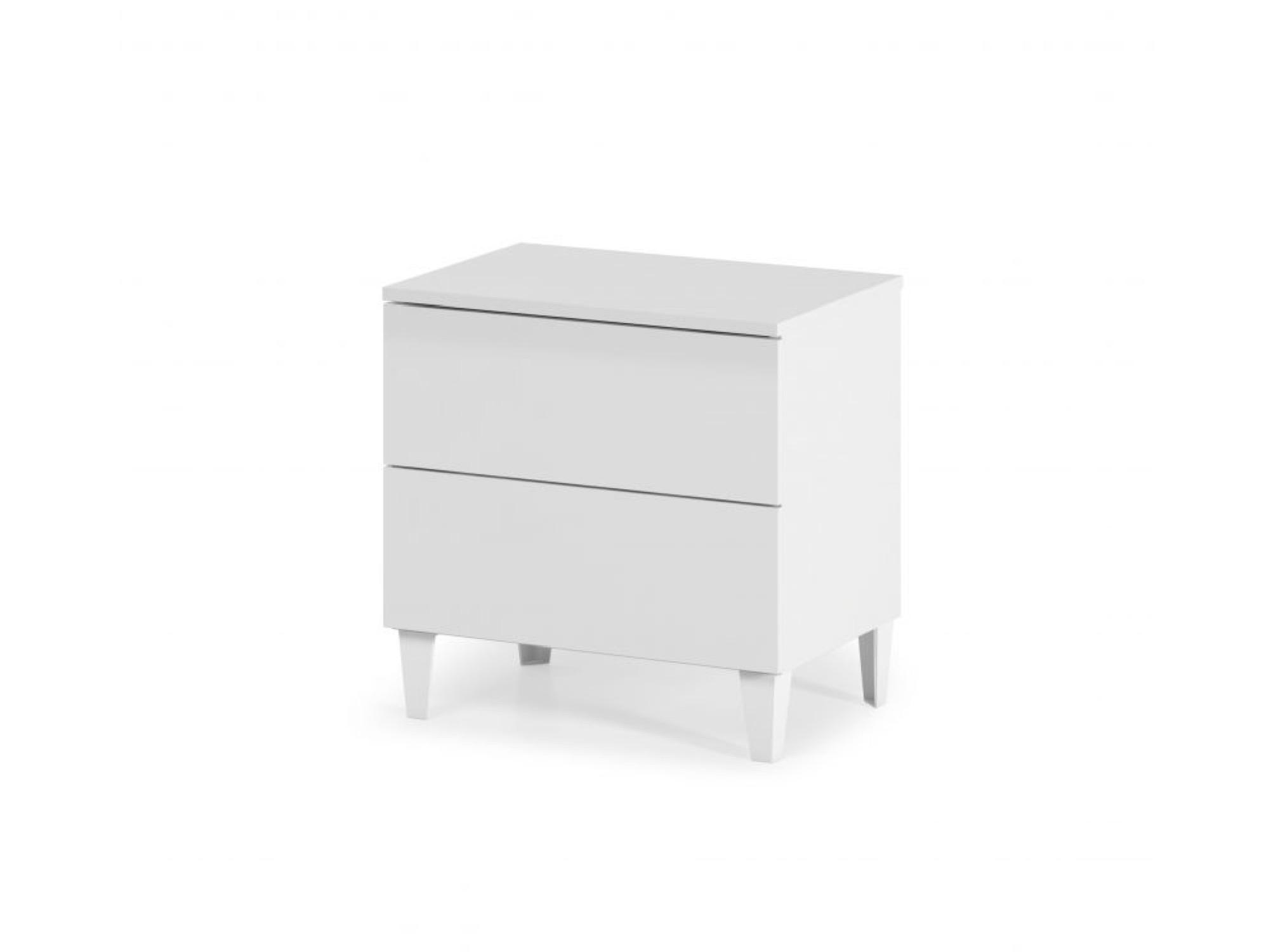 Chevet 2 tiroirs blanc 50x49 (photo)