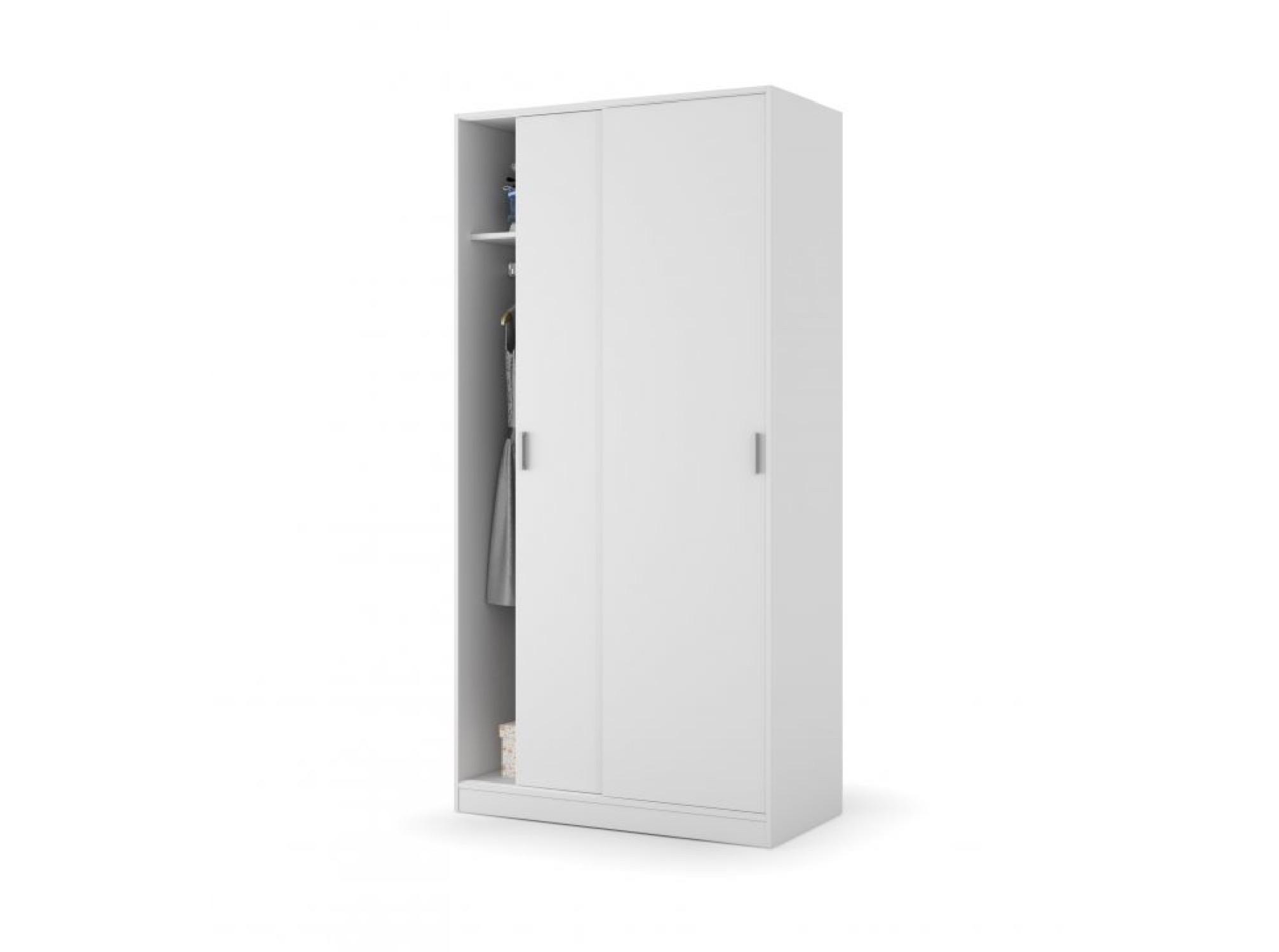 Armoire blanche 2 portes coulissantes 100x200 (photo)