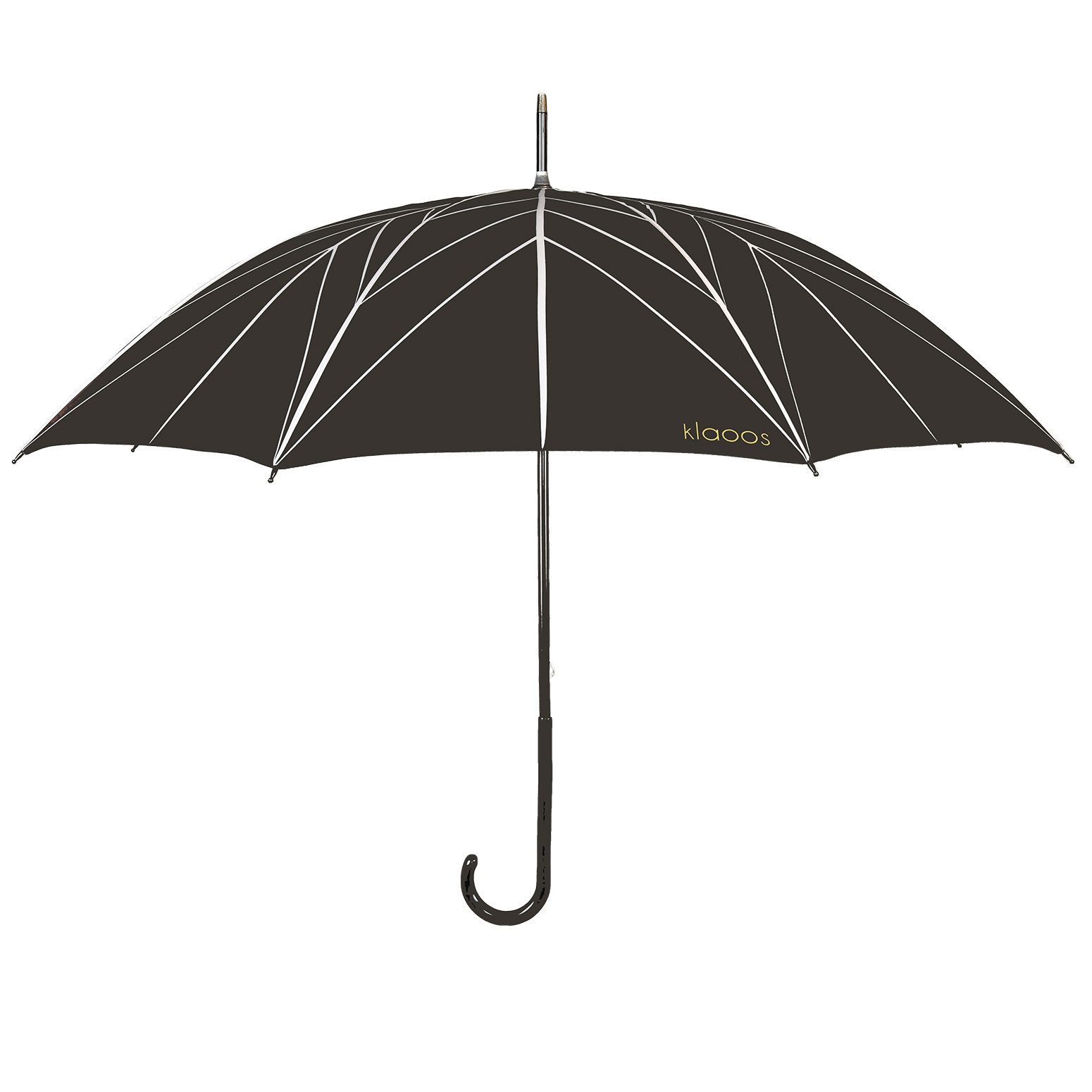 Parapluie en textile recyclé noir ébène