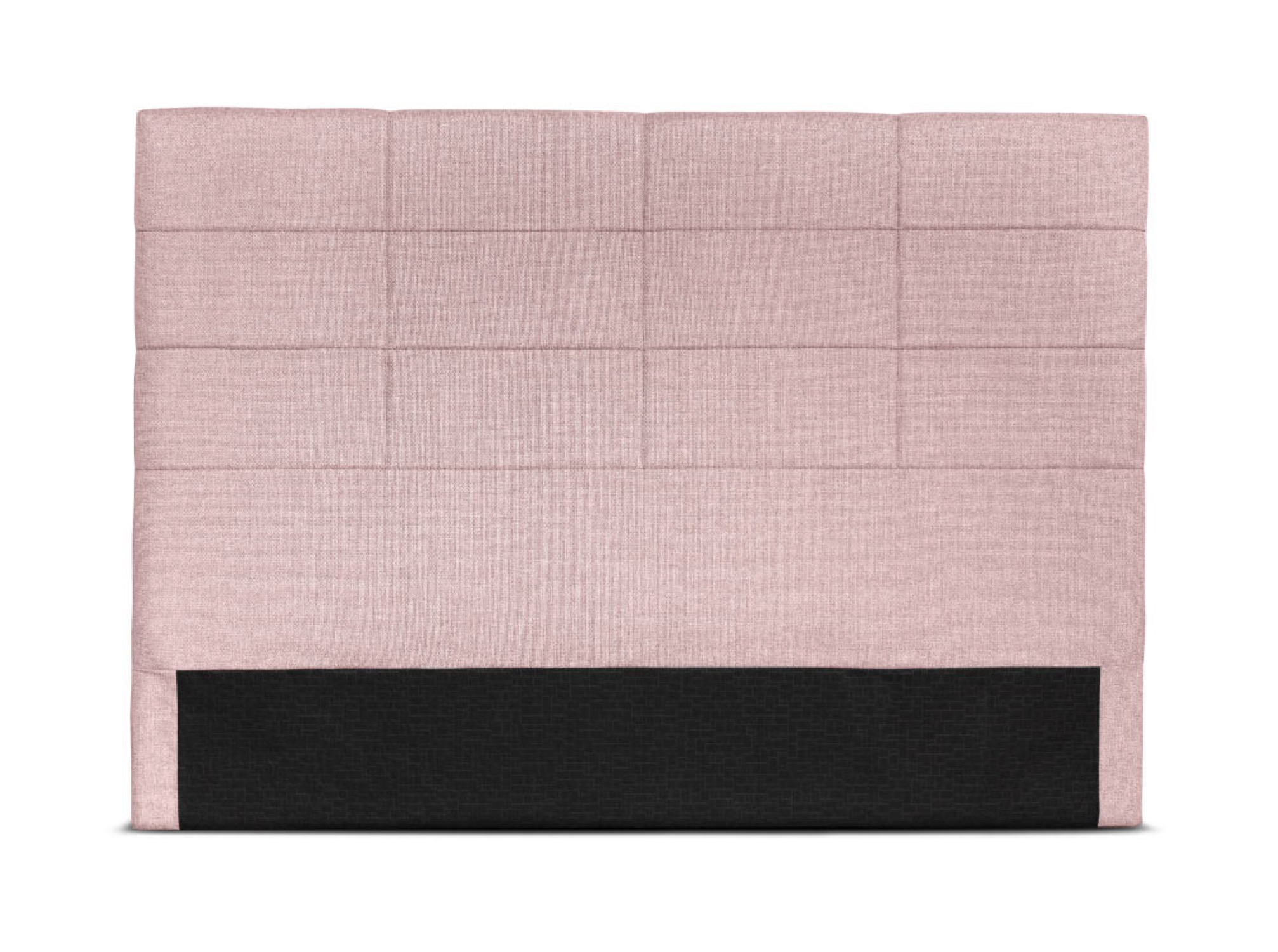 Tête de lit en tissu rose - 160cm