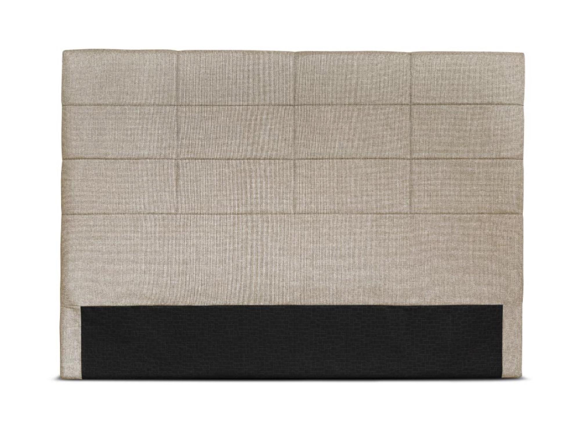Tête de lit en tissu beige - 140cm