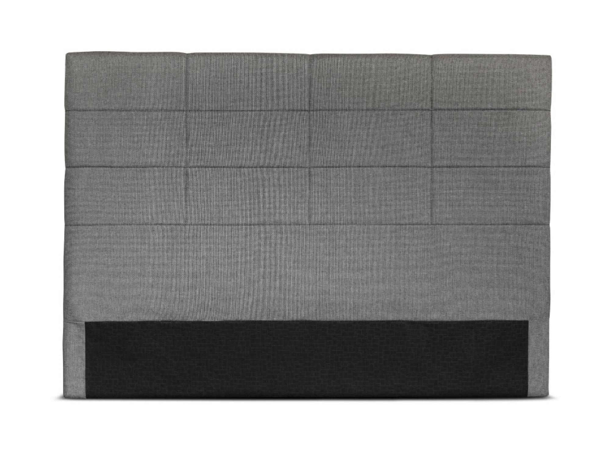 Tête de lit en tissu gris - 140cm