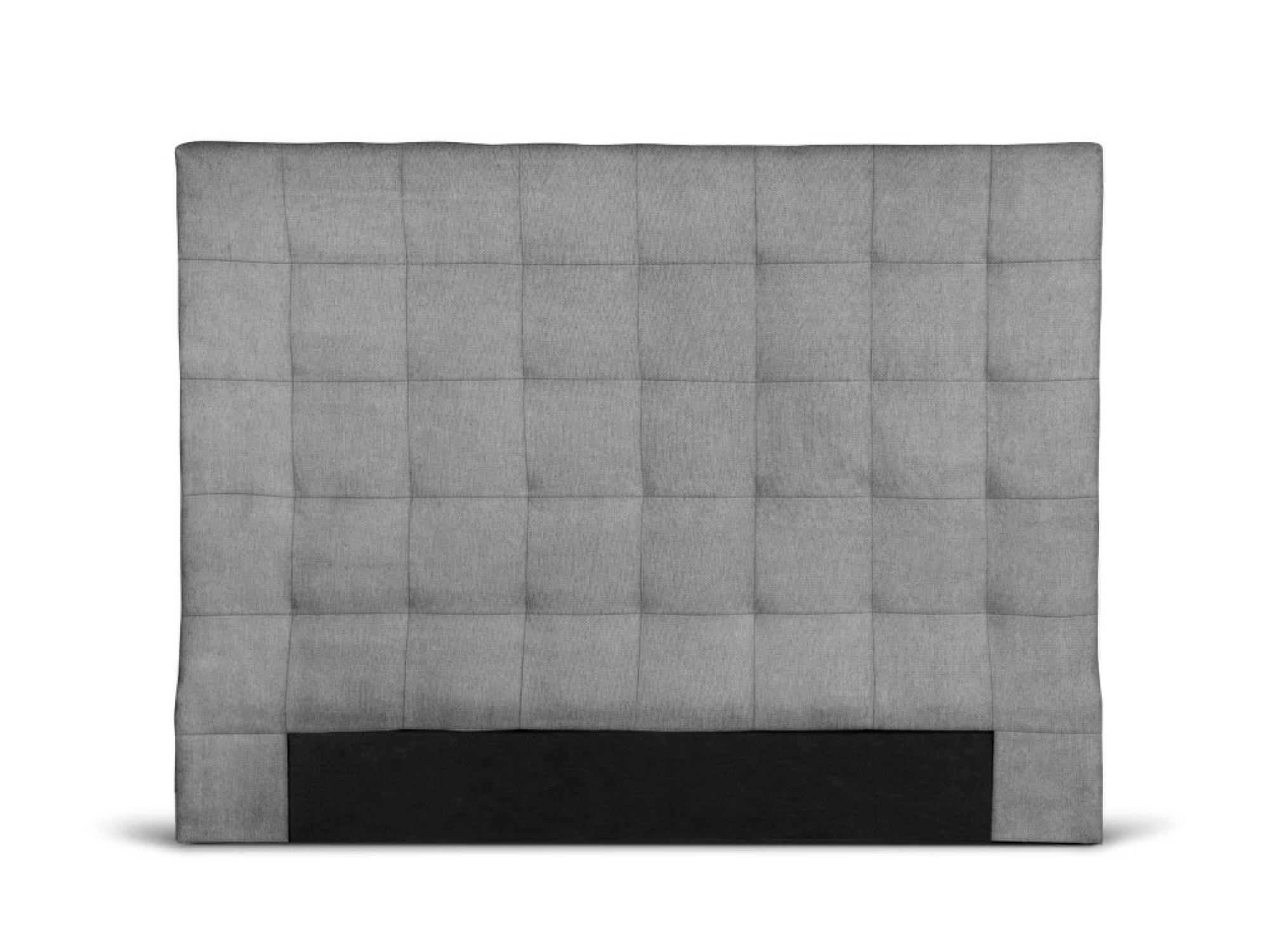 Tête de lit capitonnée en tissu gris - 140cm
