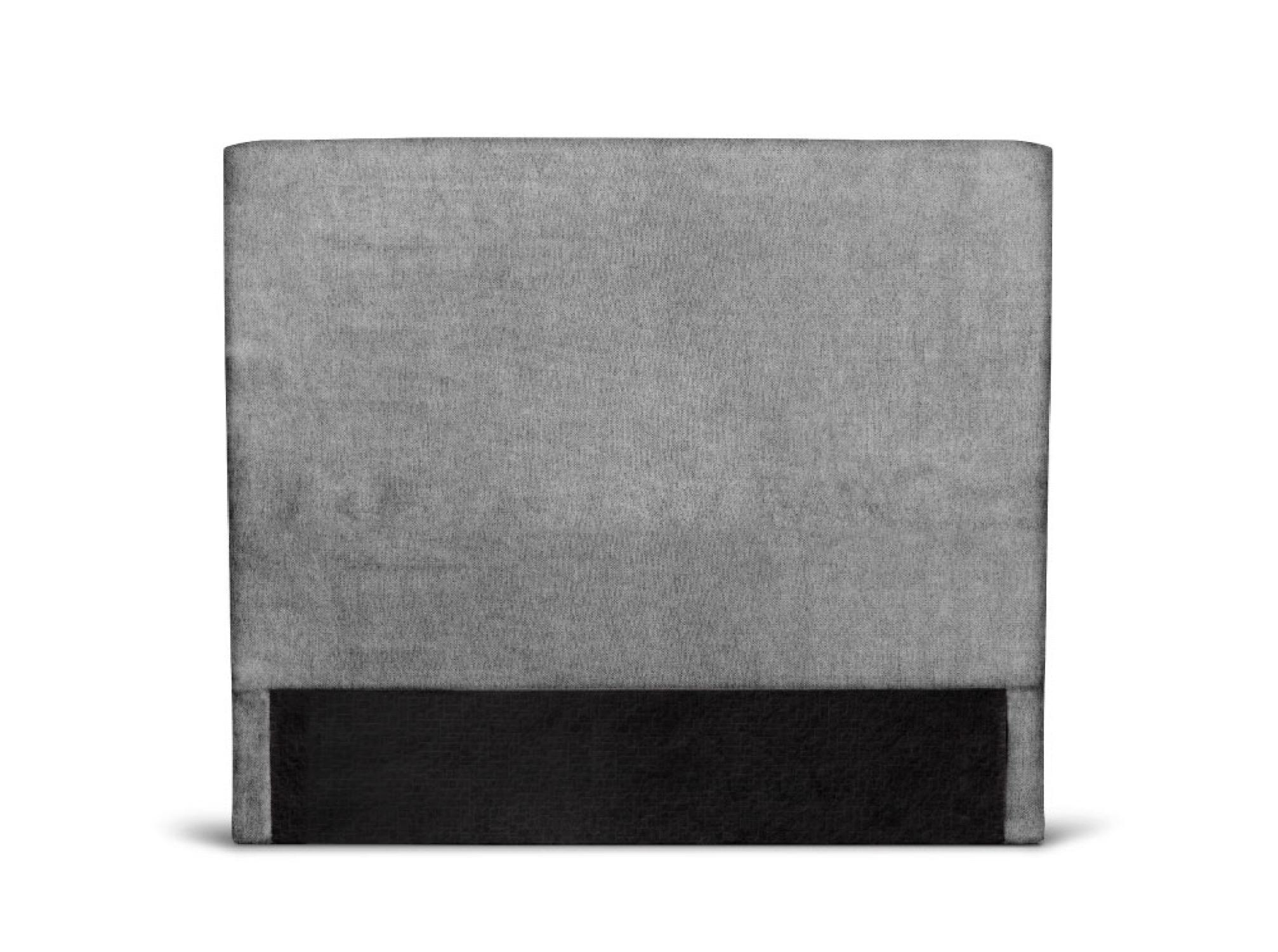 Tête de lit lisse en tissu gris - 160cm