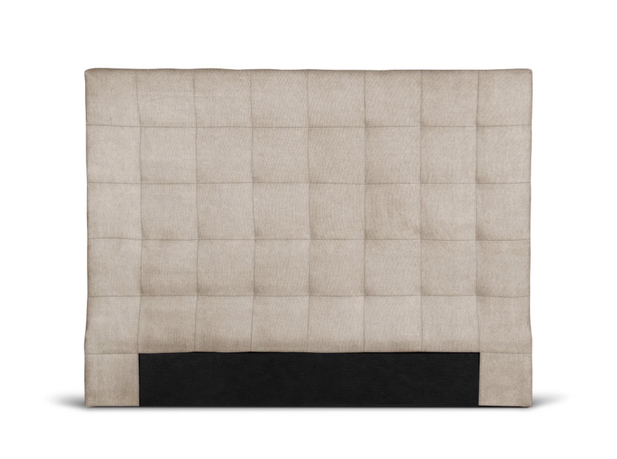 Tête de lit capitonnée en tissu beige - 140cm