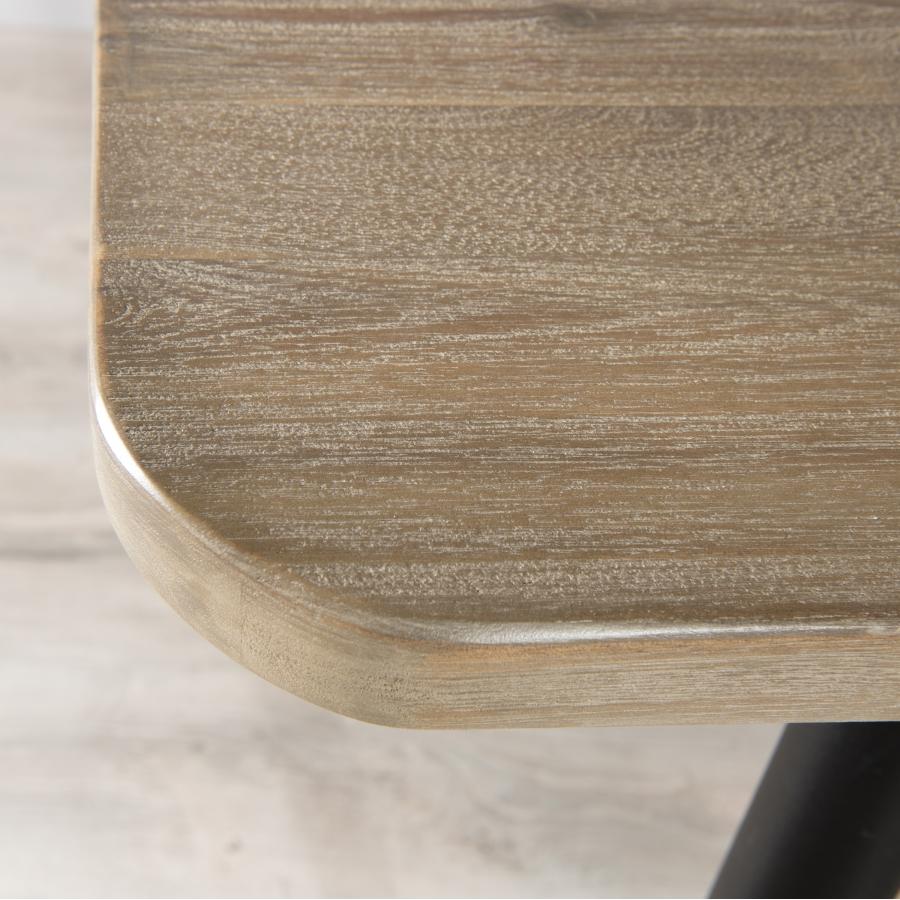 Table à manger bois pieds en métal