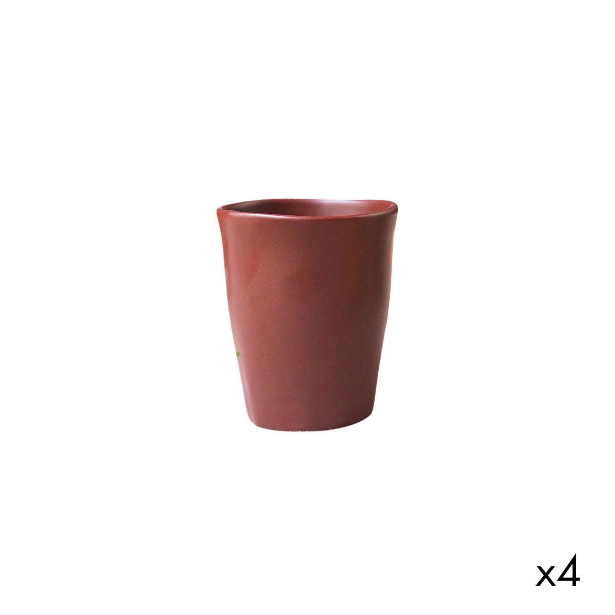 Tasse en céramique (par 4) rouge