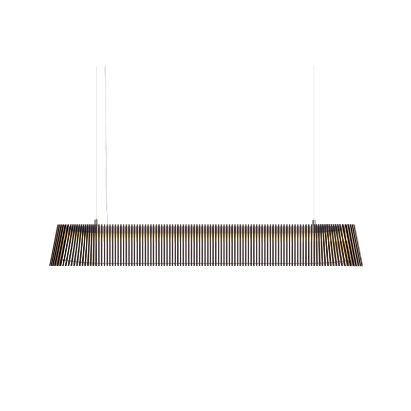 Lampe suspension en bois noir