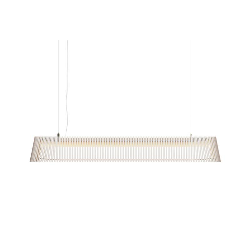 Lampe suspension en bois blanc