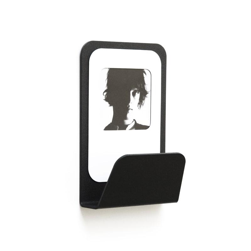 Patère cadre photo métal noir