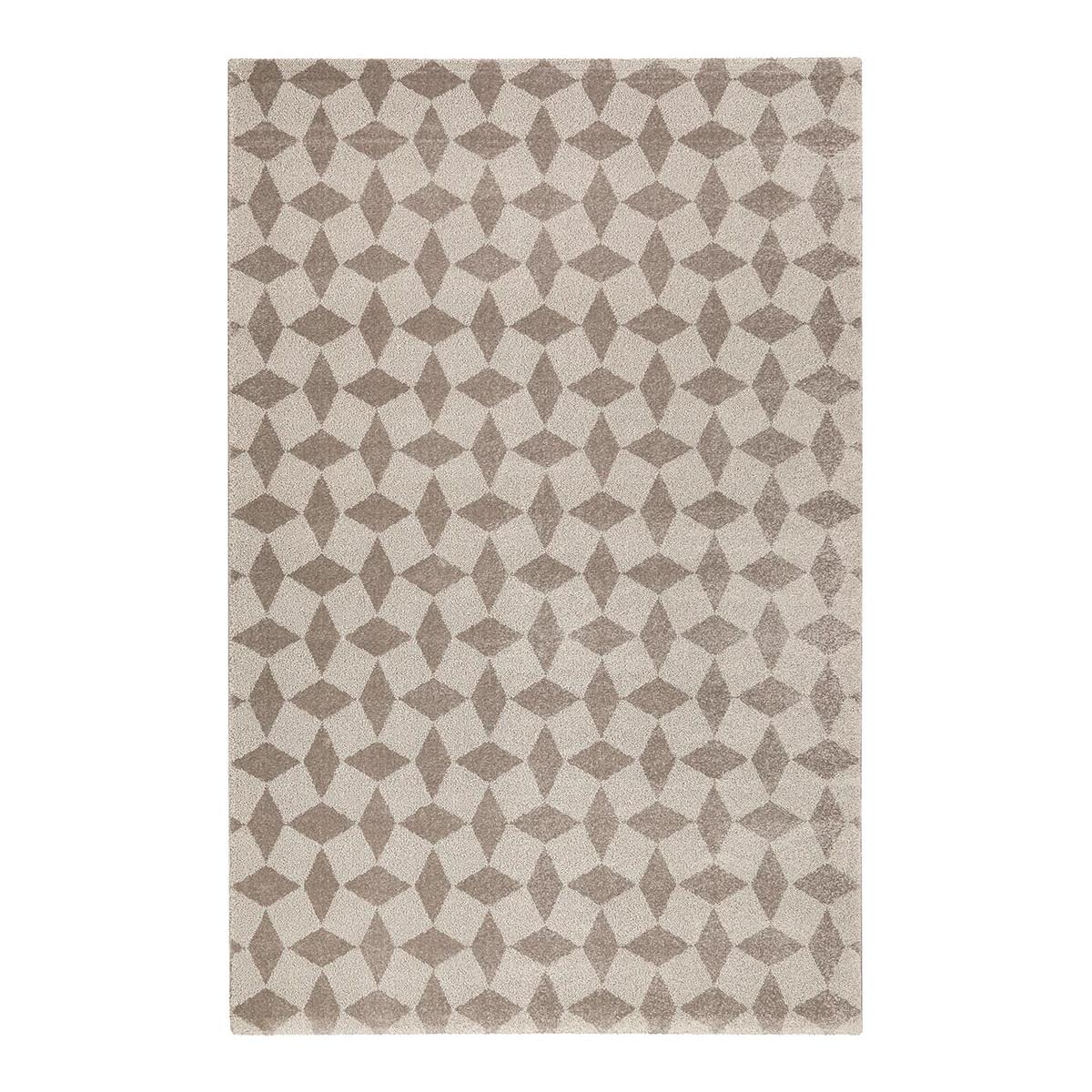 Tapis géométrique scandinave en polypropylène gris 80x150